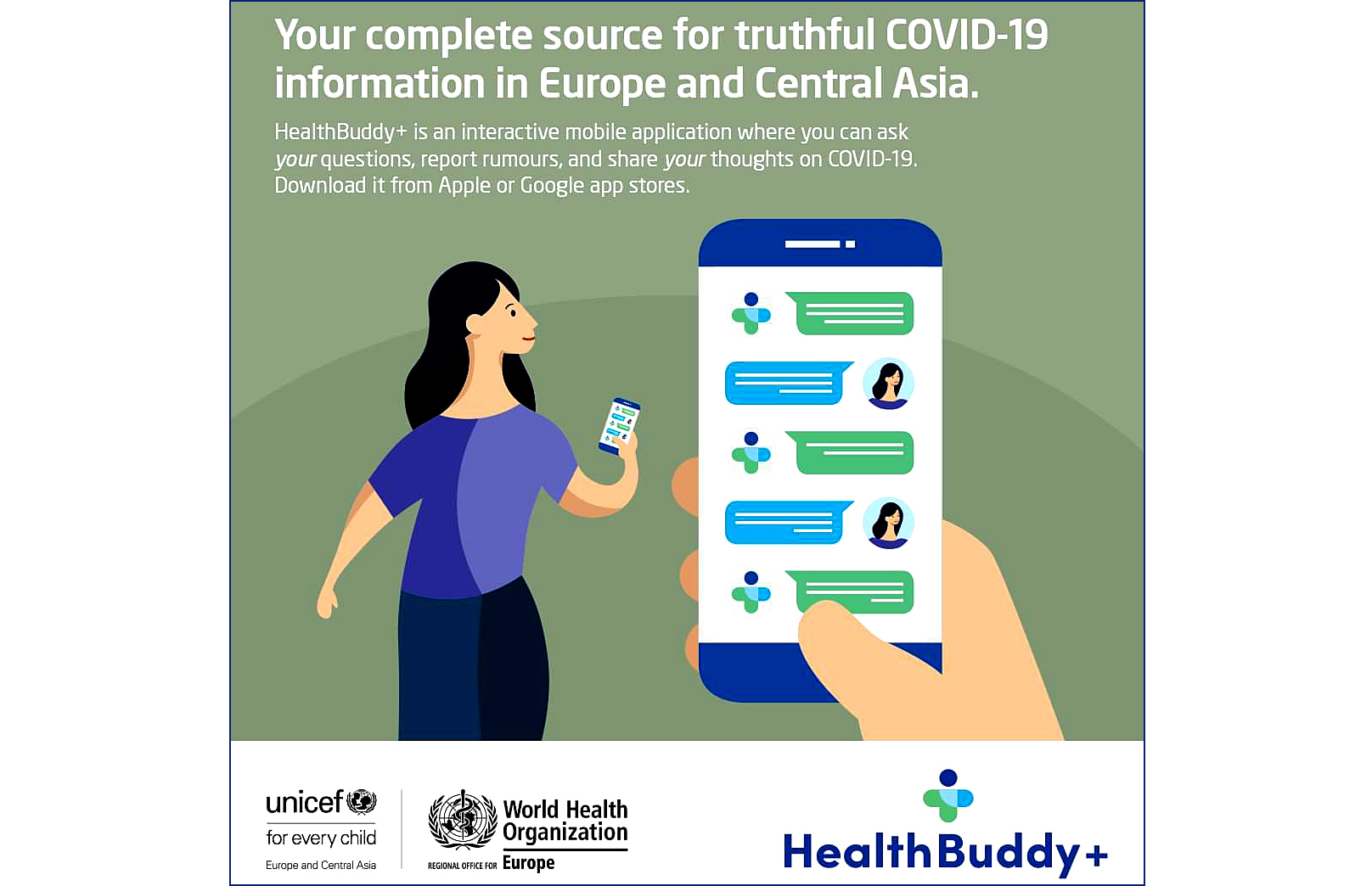 HealthBuddy+. Ask me about COVID-19