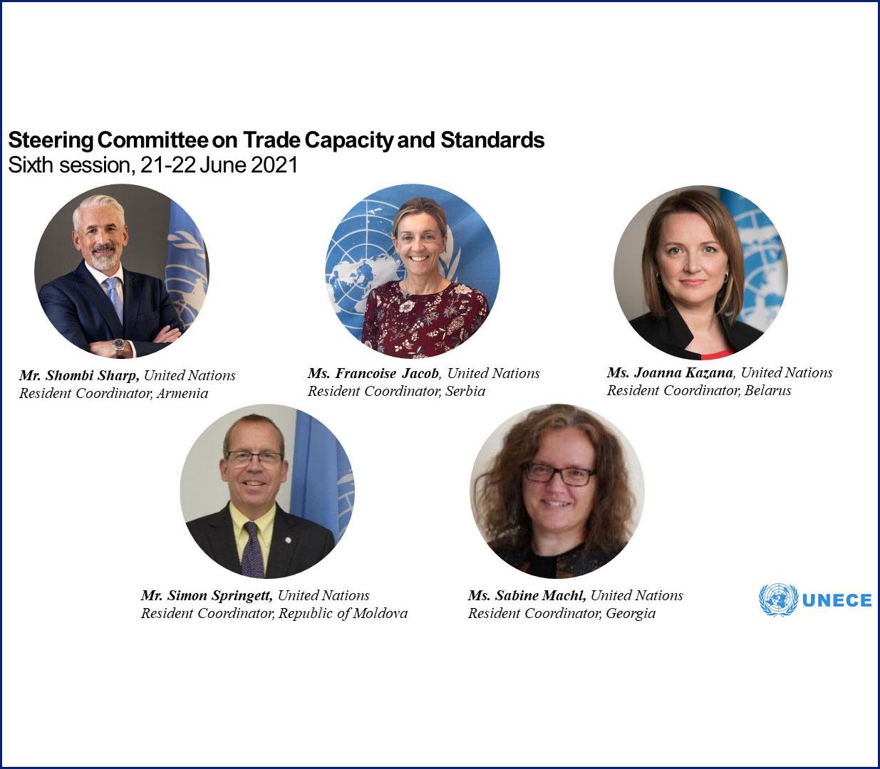 Постоянные координаторы ООН, участники шестой сессии Руководящего комитета ЕЭК ООН по потенциалу и стандартам торговли