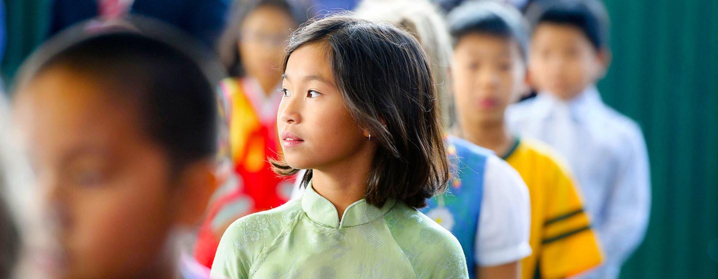 Schoolchildren in Hanoi, Vietnam.